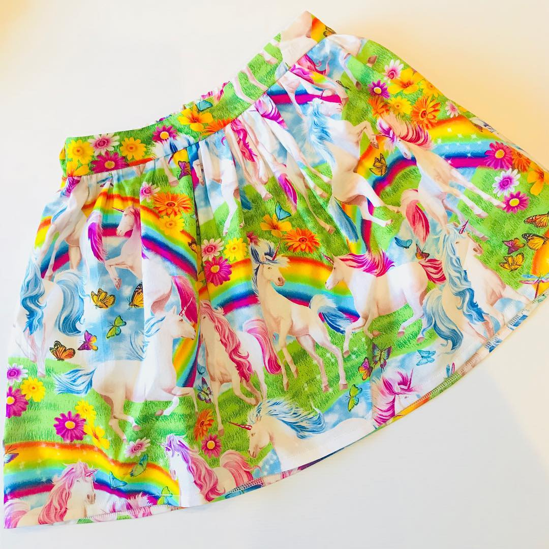 Skirt ~ Flat Front ~ Custom Order - Your choice of Fabric ~ Sizes 1 to 10
