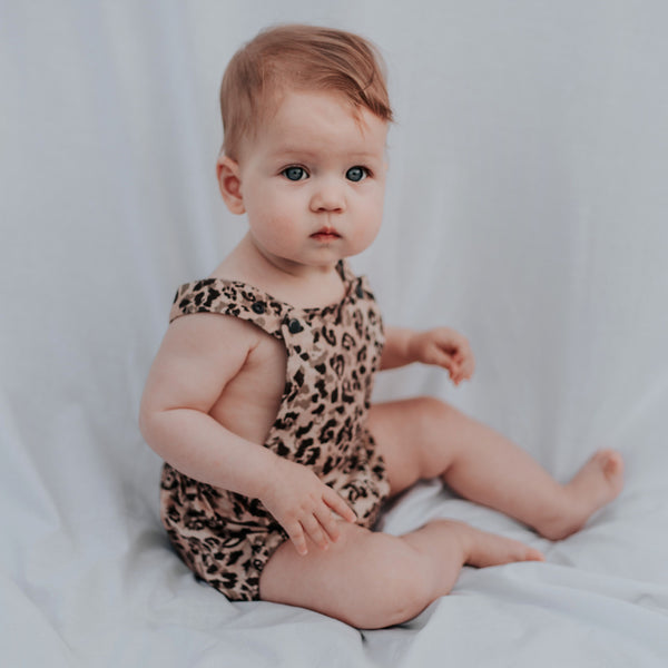 Grayson Linen Animal Print Romper