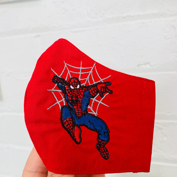 Face Masks 😷  SpiderMan 🕷 Embroidered Mask