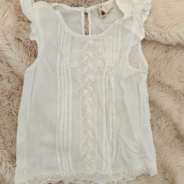 Destash - Cotton On  - size 2 - EUC white lace top