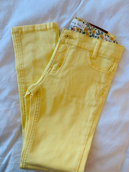 Destash - Lacey Lane - yellow jeans- GUC - Size 6