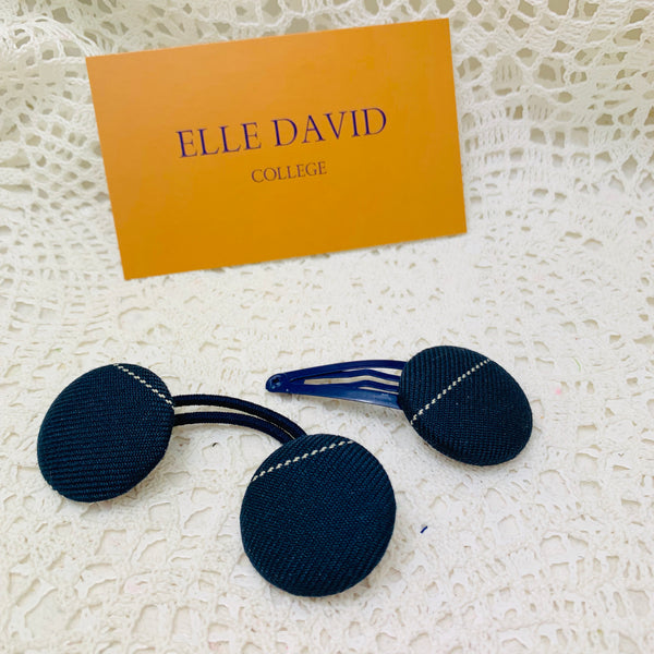 MLC Hair Tie and Button Clip Set ~ Winter