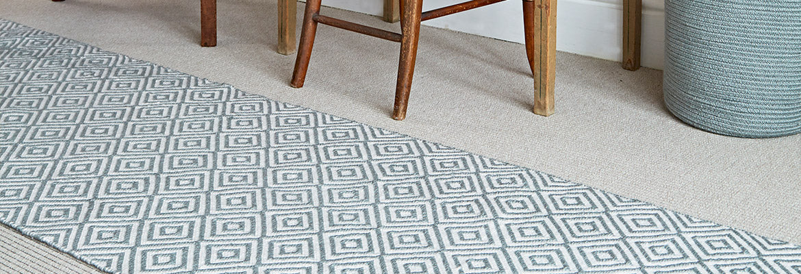 Oslo dove grey runner rug & Runner Rugs | Hallway and Kitchen Runners | Weaver Green