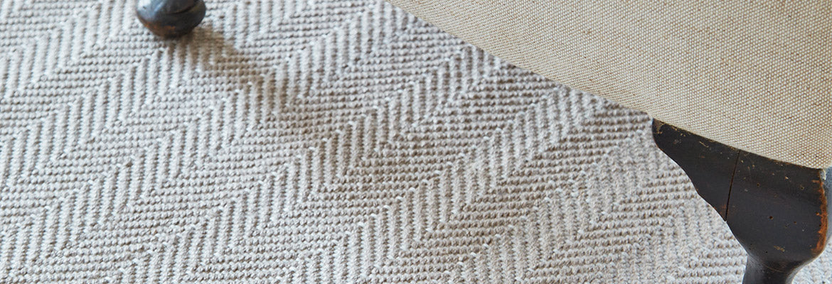 Herringbone rug in Dormouse