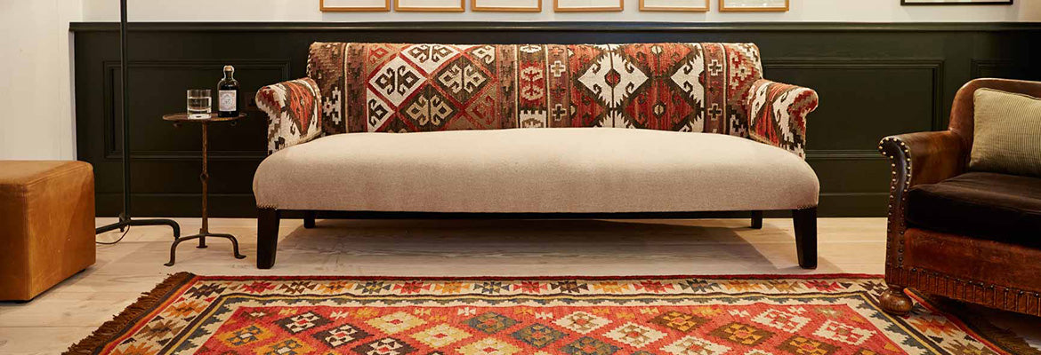 Nomad Patara Rug with sofa and chair