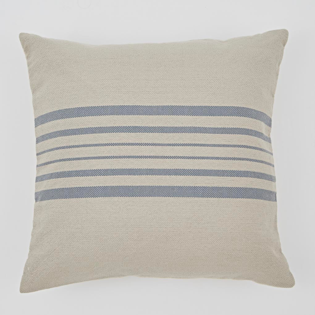 Antibes Linen & Blue Cushion