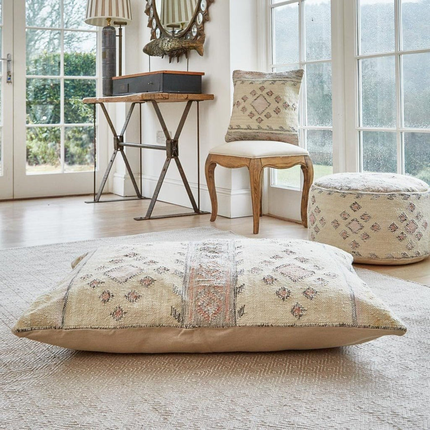 Andalucia Cadiz Cushion floor cushion with footstool and cushion