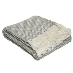 Dove Grey Herringbone Blanket