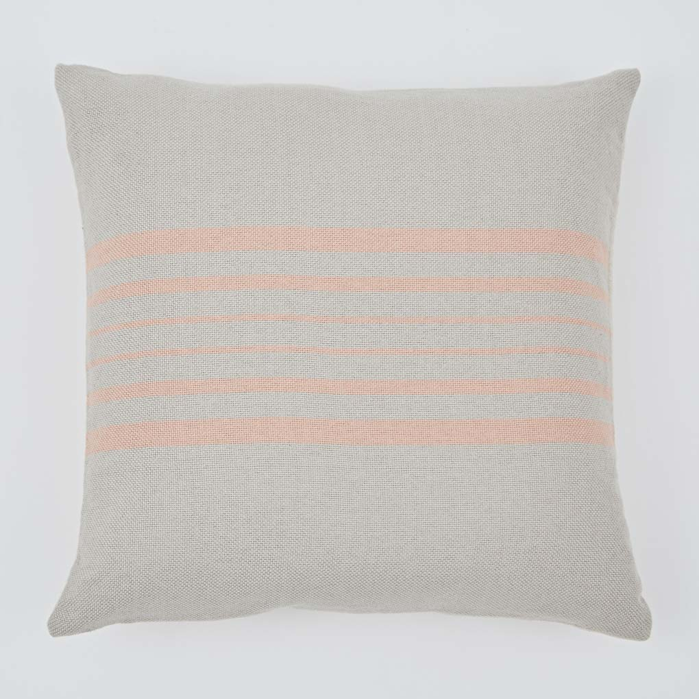 Antibes Linen & Coral Cushion