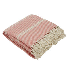 Oxford Stripe Coral Blanket
