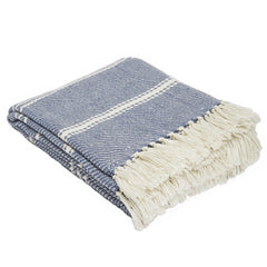 Oxford Stripe Navy Blanket