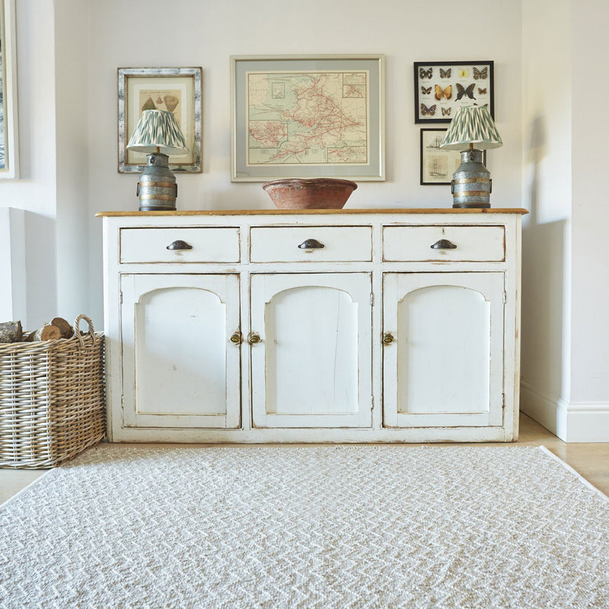 Chinchilla Chenille Rug with sideboard