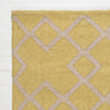 juno gooseberry yellow colour rug corner