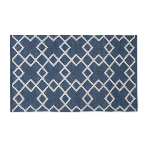 juno navy blue colour rug