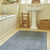 Navy Diamond Runner Rug in bathroom