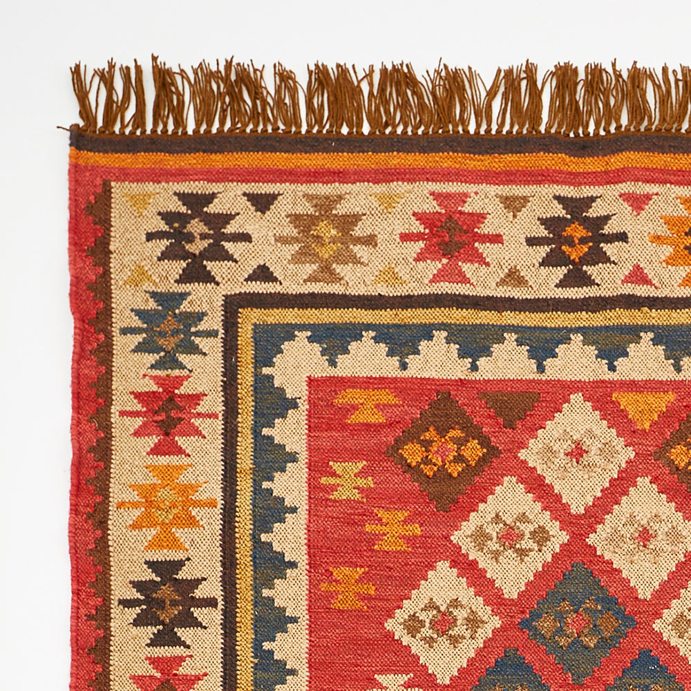 Red Kilim Rug – Weaver Green