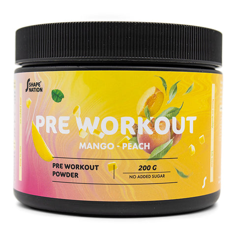 Pre Workout med Fersken & Mango - Shapenation (200 g)