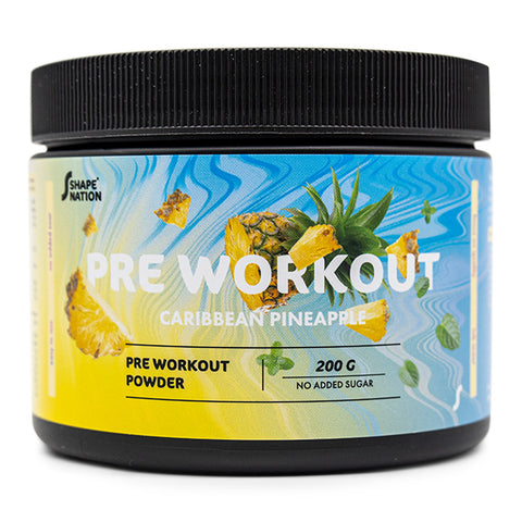 Pre Workout med Caribbean Ananas - Shapenation (200 g)
