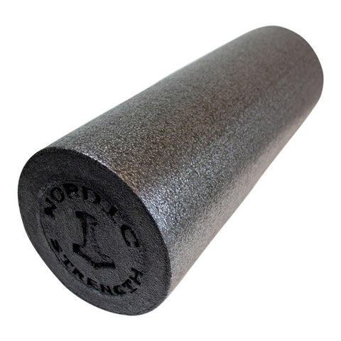Foam roller glat - 45 cm (Black edition)