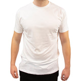 T-shirt soft basic white - Herre