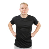 T-shirt soft basic black - Herre