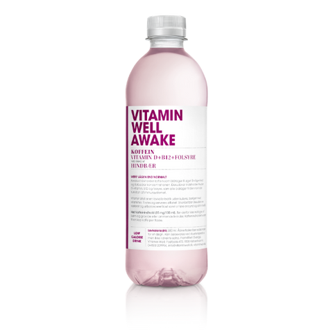 Vitamin Well Awake - Hindbær (12x500ml)