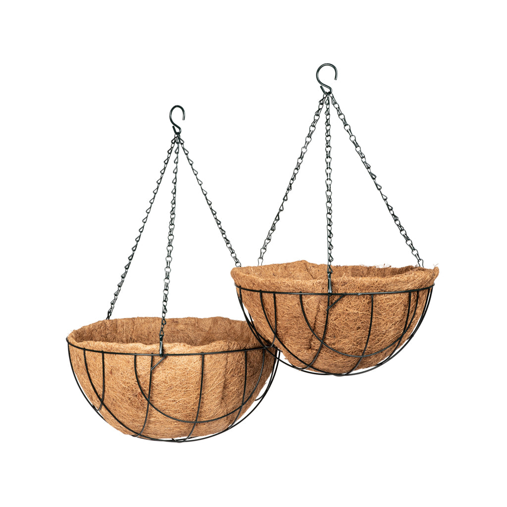 Coir lined wire baskets -   - Gardening Accessories