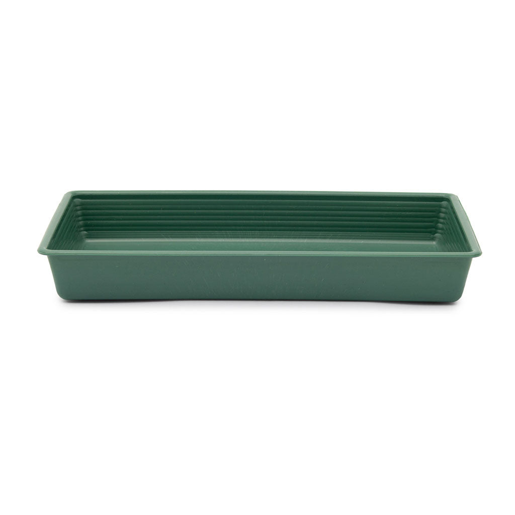 Full tray, 26 x 14.5 x 3cm, green -  SINGLE Full tray 26 x 14.5 x 3cm, green - Florists Supplies