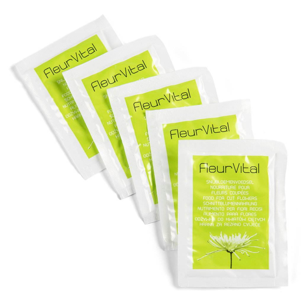 Fleur Vital Flower Food Sachets, 5pc bundle -   - Florists Supplies