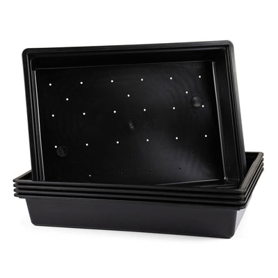 Plastic Tray, 35 x 48 x 7.6cm -  5Pc Bulk Purchase. 35 x 48 x 7.6cm Plastic Tray - Plastics