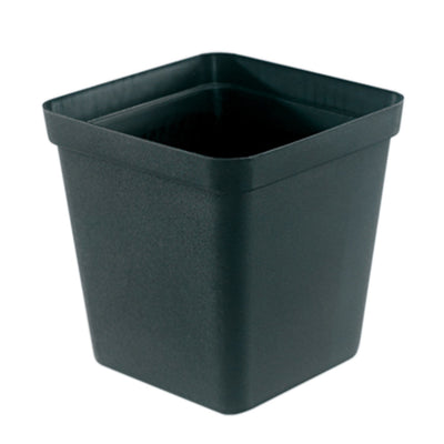 Square Plastic Pot, Black, 9cm -  1Pc. 9cm BLACK plastic square pot - Plastics