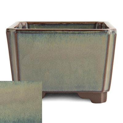 Japanese Glazed Square Container, 100 x 100 x 70mm -  Hiwa - Pots