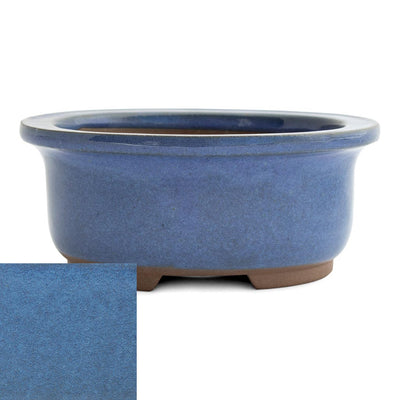 Japanese Glazed Deep Oval Container, 130 x 110 x 55mm -  Kinyou - Pots