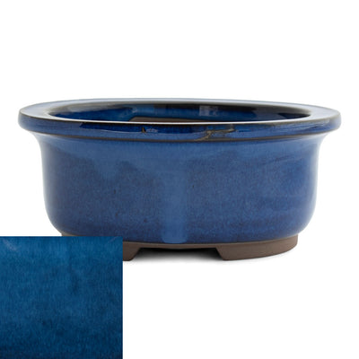 Japanese Glazed Deep Oval Container, 130 x 110 x 55mm -  Namako - Pots
