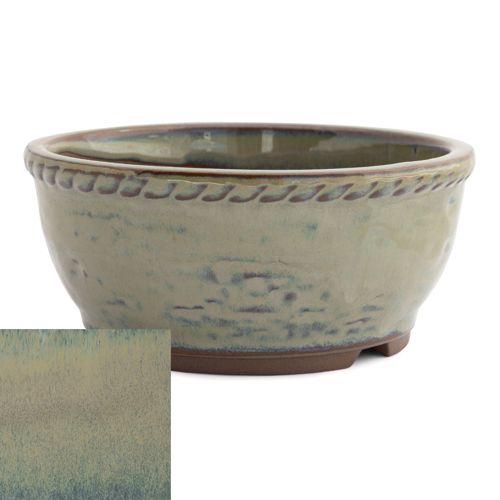 Japanese Glazed Deep Round Container, 125 x 50mm -  Hiwa - Pots