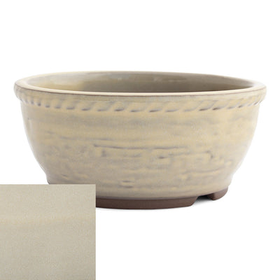 Japanese Glazed Deep Round Container, 125 x 50mm -  Cream - Pots