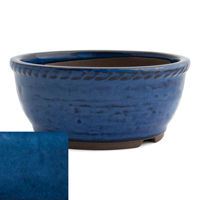 Japanese Glazed Deep Round Container, 125 x 50mm -  Namako - Pots