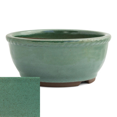 Japanese Glazed Deep Round Container, 125 x 50mm -  Oribe - Pots