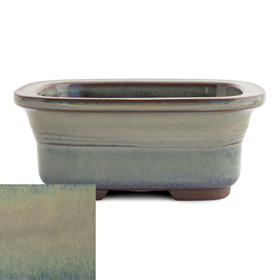 Japanese Glazed Rounded Rectangular Container with Lip, 135 x 110 x 55mm -  Hiwa - Pots