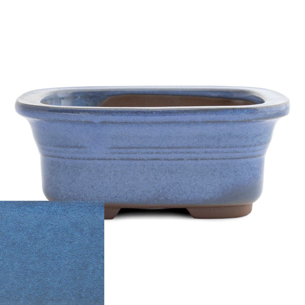 Japanese Glazed Rounded Rectangular Container with Lip, 135 x 110 x 55mm -  Kinyou - Pots
