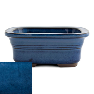 Japanese Glazed Rounded Rectangular Container with Lip, 135 x 110 x 55mm -  Namako - Pots