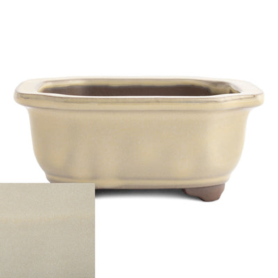 Japanese Glazed Decorative Rectangular Container, 130 x 115 x 55mm -  Cream - Pots