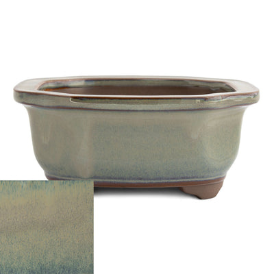 Japanese Glazed Decorative Rectangular Container, 130 x 115 x 55mm -  Hiwa - Pots