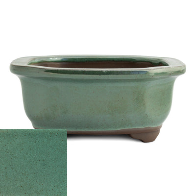 Japanese Glazed Decorative Rectangular Container, 130 x 115 x 55mm -  Oribe - Pots