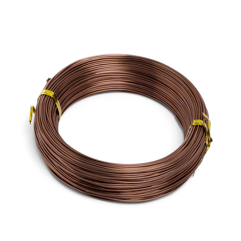 1mm, Anodized aluminium bonsai styling wire -  1mm, 100gm Brown aluminium wire - Wire