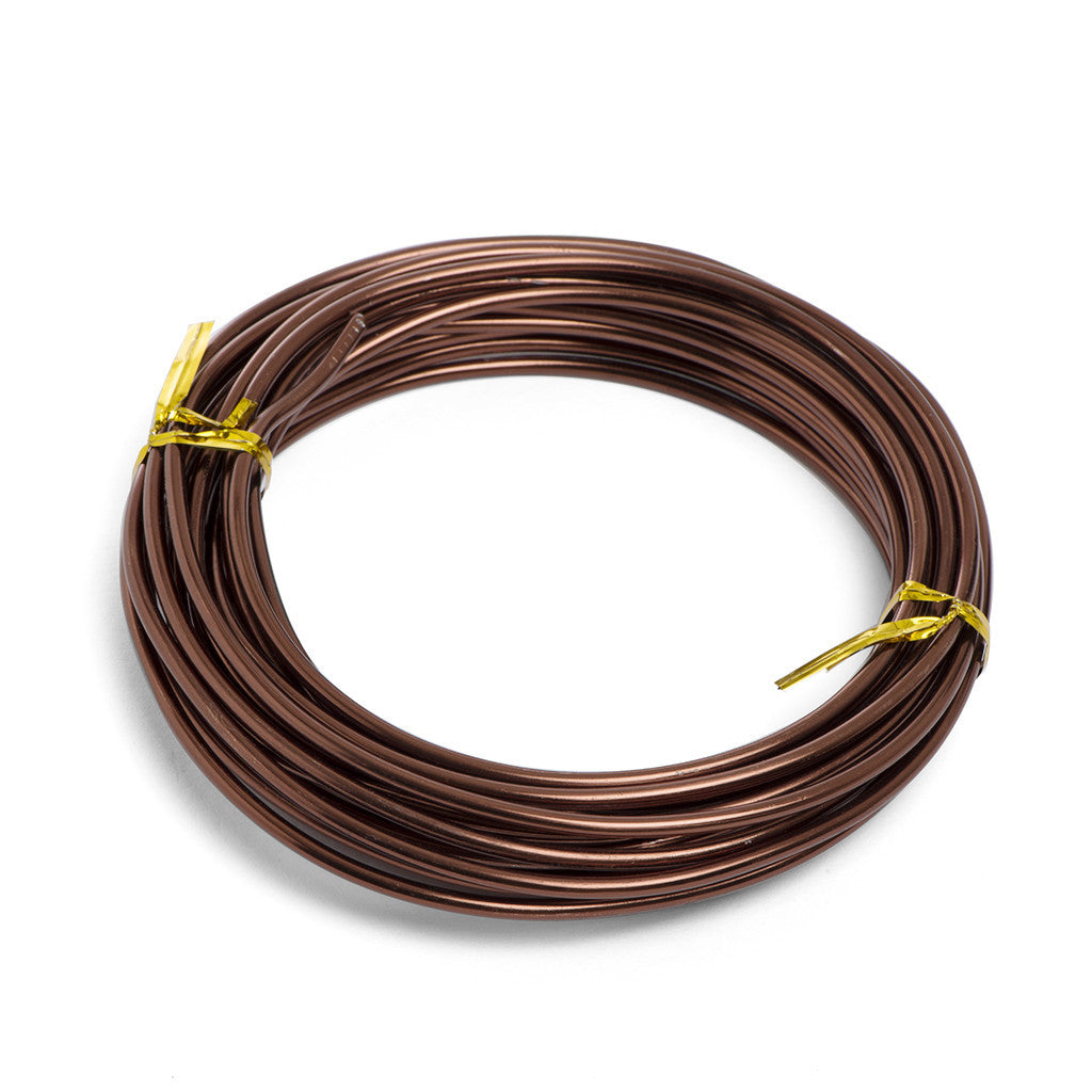 3mm, Anodized aluminium wire -  3mm, 100gm Brown aluminium wire (5.2m) - Wire