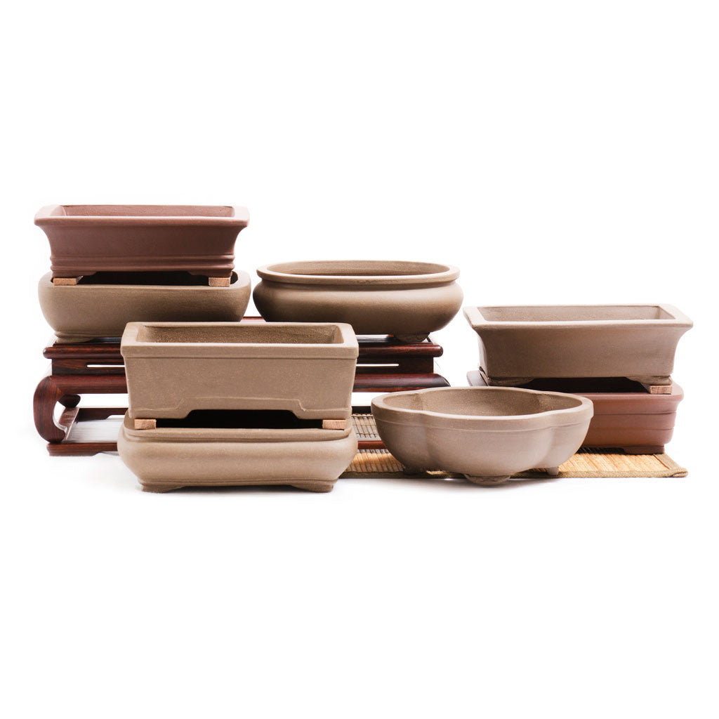 "8"" Chinese Unglazed Containers -   - Pots"