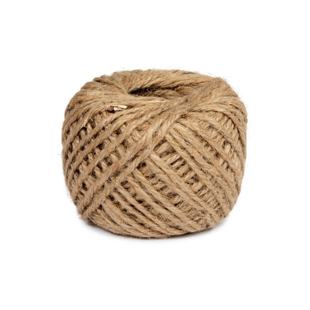 Jute, brown string, 100g -   - Florists Supplies