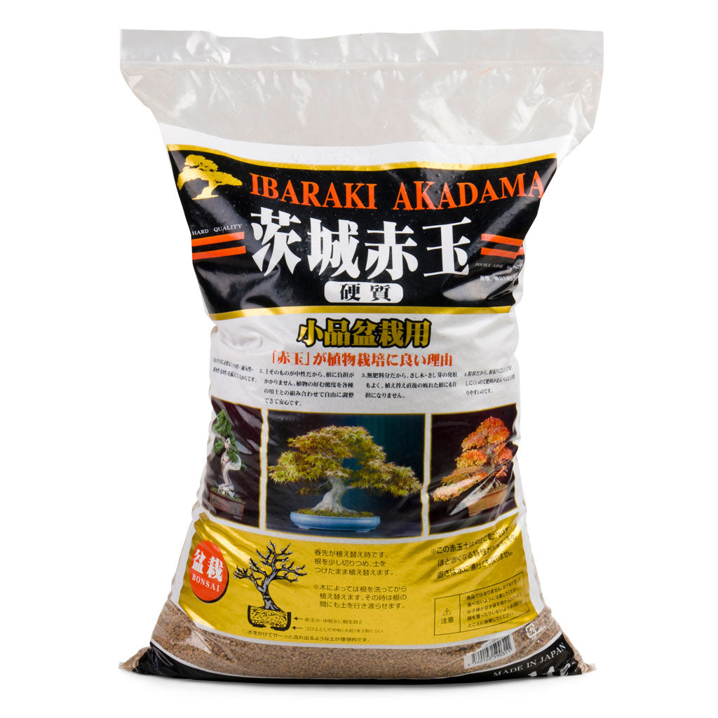 Ibaraki Hard Akadama, Fine, 1-3mm -  Akadama FINE particle, 1~3mm, 14L. - Growing Mediums