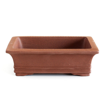 "12"" Chinese Unglazed Containers -  Rectangular Banded, 31 x 23.5 x 9cm - Pots"